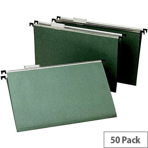 Suspension File Foolscap Pack of 50 WX21001 - Suspension files for document organisation - Economical, unbranded style - Includes tabs and inserts