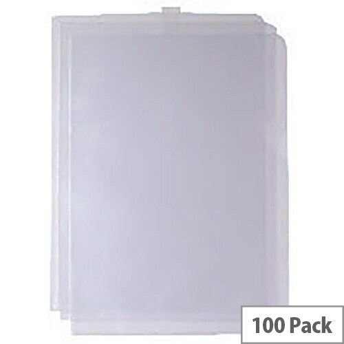 Cut Flush Folder Transparent A4 Pack of 100 WX24002