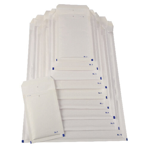 Bubble Lined Envelope Size 10 350x470mm White Pack of 50 XKF71453