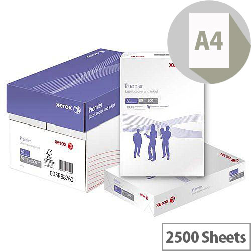 Xerox Premier Printer Paper A4 80gsm White Box of 5 Reams 003R91720
