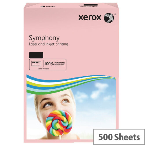Xerox Symphony Pastel Pink A3 Paper 80gsm Pack of 500 003R92261