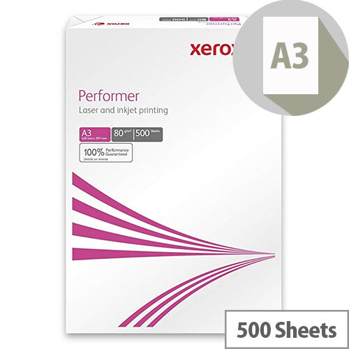 Xerox Multifunctional Printer Paper A3 80gsm White 500 Sheets
