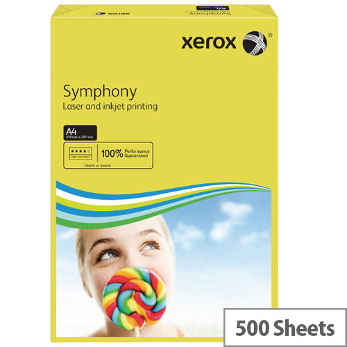 Xerox Symphony Dark Yellow A4 Paper 80gsm Pack of 500