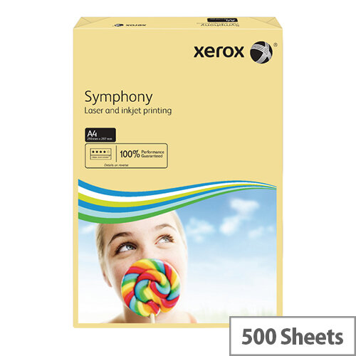 Xerox Symphony Pastel Ivory A4 Paper 80gsm Paper Pack of 500