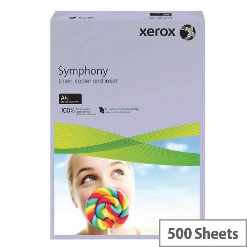 Xerox Symphony Medium Lilac A4 Paper 80g Ream 500 Sheets