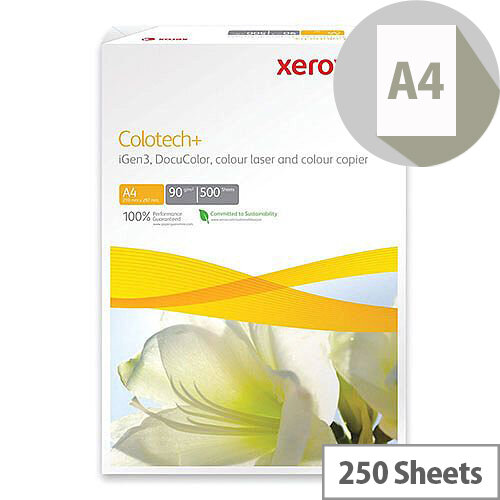Xerox Colotech Plus Paper A4 250gsm White Pack of 250