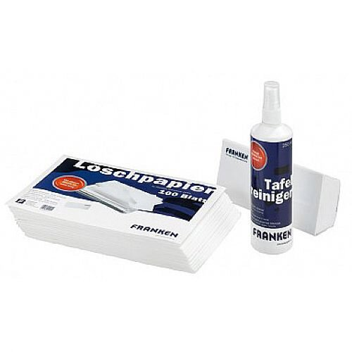 Franken Eraser Paper For Board Wiper Pack of 100 Sheets