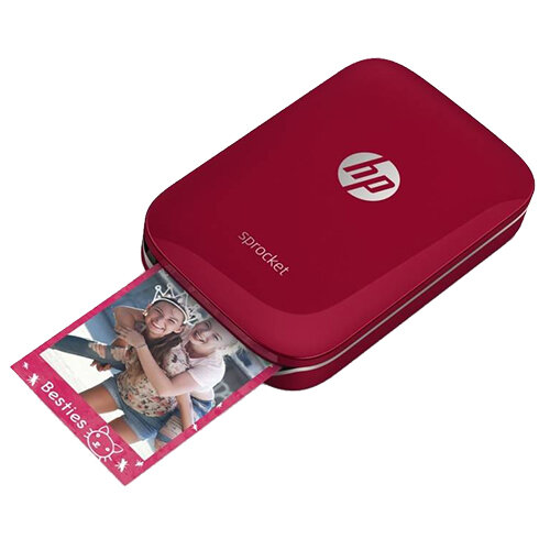 HP Sprocket Photo Colour Printer Bluetooth Red Z3Z93A