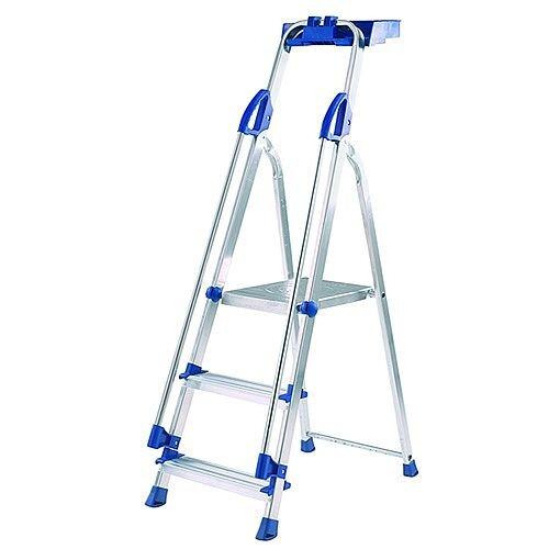 Abru Blue Seal 3-Tread Professional Aluminium Step Ladder Height 0.58m Sliver 10503