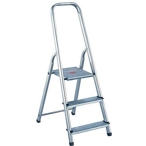 Alumiunium Step Ladder 3 Steps Plus Height 0.57m Silver 358737