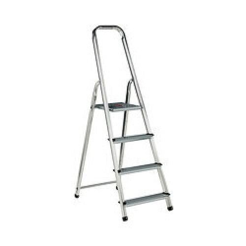 Alumiunium Step Ladder 4 Steps Plus Height 0.77 Silver 358738