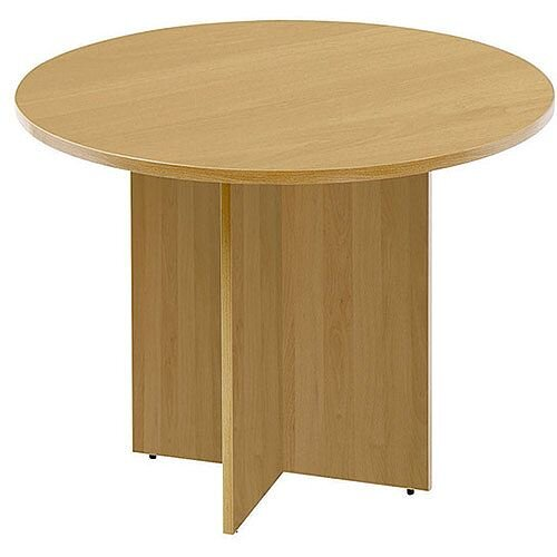 Arista 1200mm Round Meeting Table Oak KF72049