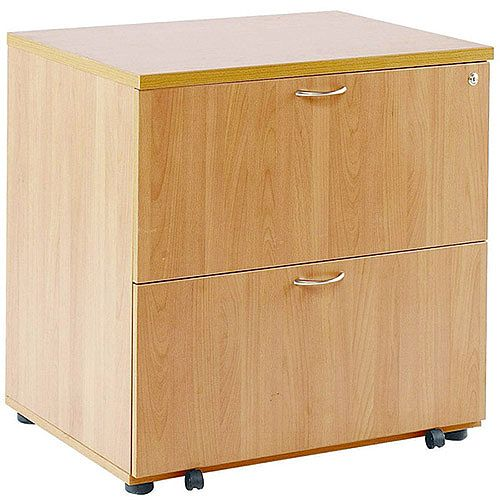 Wooden Desk High Side Filer Beech Arista KF72416