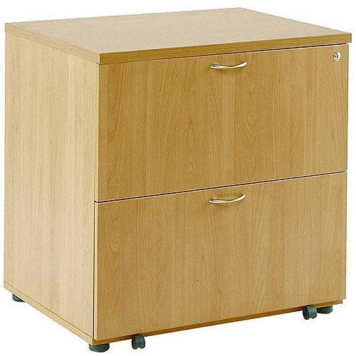 Wooden Desk High Side Filer Oak Arista KF72417