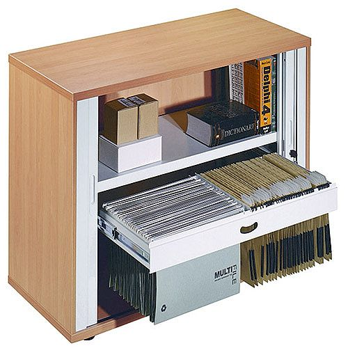 Arista Desk-High Side Tambour Beech KF838307