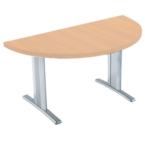 Lightweight Semi Circular Xmm Folding Conference Table Beech - Half circle conference table