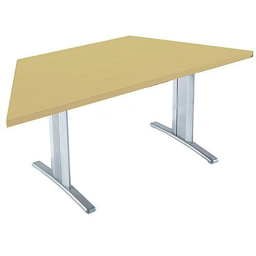 Lightweight Trapezoidal Xmm Folding Conference Table Oak - Collapsible conference table