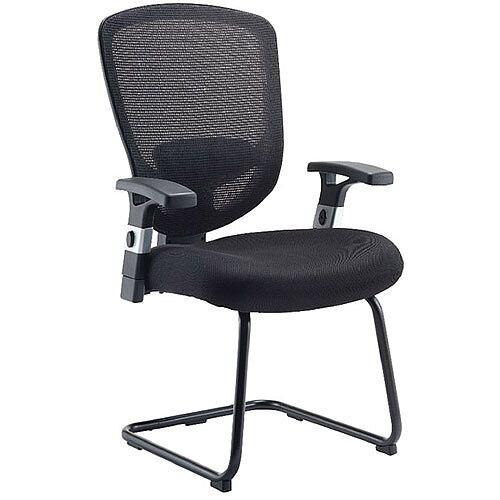 Arista Mesh Visitors Chair Black