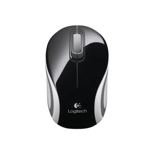 Logitech M187 - Mouse - optical - wireless - 2.4 GHz - USB wireless receiver - black