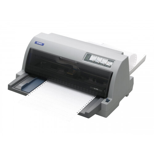 Epson LQ 690 - Printer - monochrome - dot-matrix - 12 cpi - 24 pin - up to 529 char/sec - parallel, USB