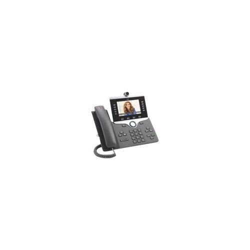 Cisco IP Phone 8865 - IP video phone - digital camera, Bluetooth interface - IEEE 802.11a/b/g/n/ac (Wi-Fi) - SIP, SDP - 5 lines - charcoal