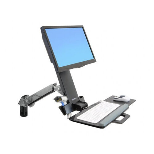 """Ergotron StyleView Sit-Stand Combo Arm - Mounting kit (articulating arm, wall track mount) for LCD display / keyboard / mouse / bar code scanner (Lift and Pivot) - plastic, aluminium - screen size: up to 24"""""""