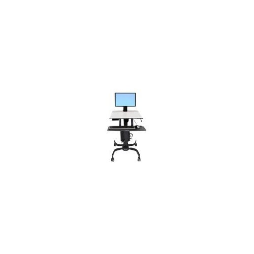 Ergotron WorkFit-C Single LD Sit-Stand Workstation - Cart for LCD display / keyboard / mouse / CPU - grey, black - screen size: 24""