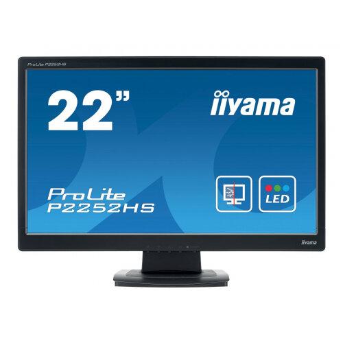 "Iiyama ProLite P2252HS-B1 - LED Computer Monitor - 22"" (21.5"" viewable) - 1920 x 1080 Full HD (1080p) - TN - 225 cd/m² - 1000:1 - 5 ms - HDMI, DVI-D, VGA - speakers - black"