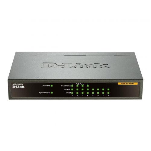 D-Link DES 1008PA - Switch - unmanaged - 4 x 10/100 (PoE) + 4 x 10/100 - desktop - PoE