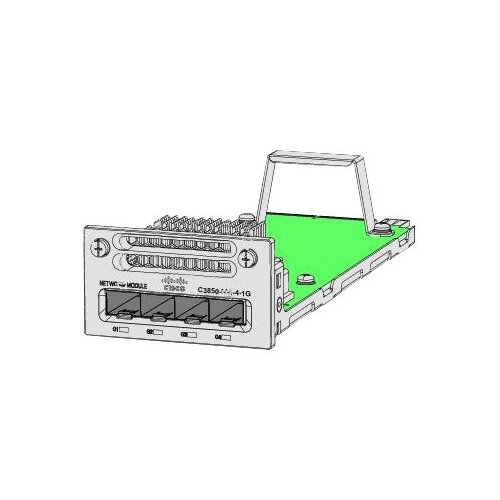 Cisco - Expansion module - GigE - 4 ports - for Catalyst 3850-12, 3850-12X48, 3850-24, 3850-48, C3850-24