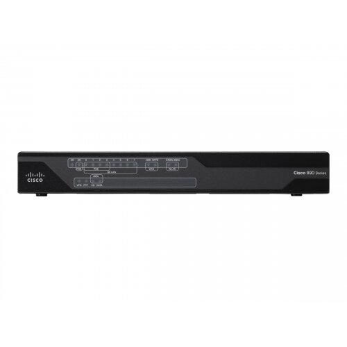 Cisco 897VA Gigabit Ethernet Security Router with SFP and VDSL2/ADSL2+ Bonding over POTS - Router - DSL modem - 8-port switch - GigE - WAN ports: 3