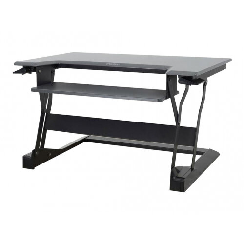 """Ergotron WorkFit-T Sit-Stand Desktop Workstation - Stand for LCD display / keyboard / mouse / notebook - black - screen size: up to 30"""" - table mount"""