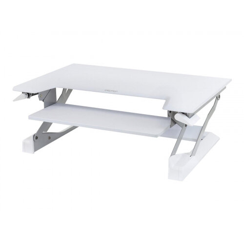 """Ergotron WorkFit-T Sit-Stand Desktop Workstation - Stand for LCD display / keyboard / mouse / notebook - white - screen size: up to 30"""" - table mount"""