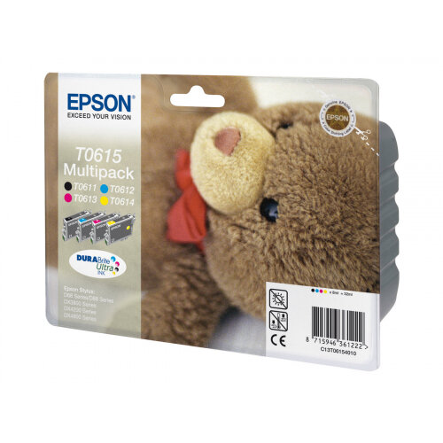 Epson Multipack T0615 - 4-pack - 32 ml - black, yellow, cyan, magenta - original - blister - ink cartridge - for Stylus D68, D88, DX3800, DX3850, DX4200, DX4250, DX4800, DX4850