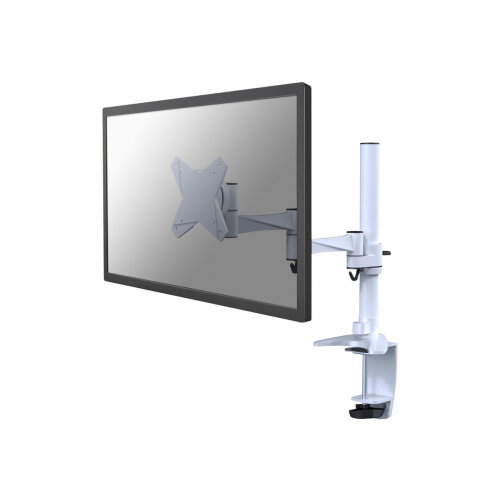 "NewStar Full Motion Desk Mount (clamp) for 10-30"" Monitor Screen, Height Adjustable - White - Adjustable arm for LCD display - white - screen size: 10""-30"" - desk-mountable"