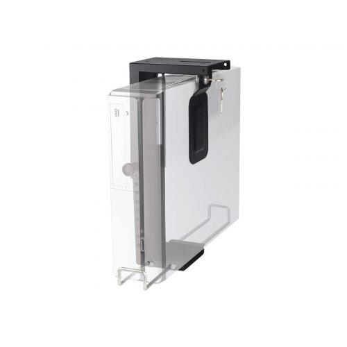 NewStar Lockable Under Desk PC Mount (Suitable PC Dimensions -  Height: 20-36 cm / Width: 5-10 cm) - Black - System unit holder - under-desk mountable - black