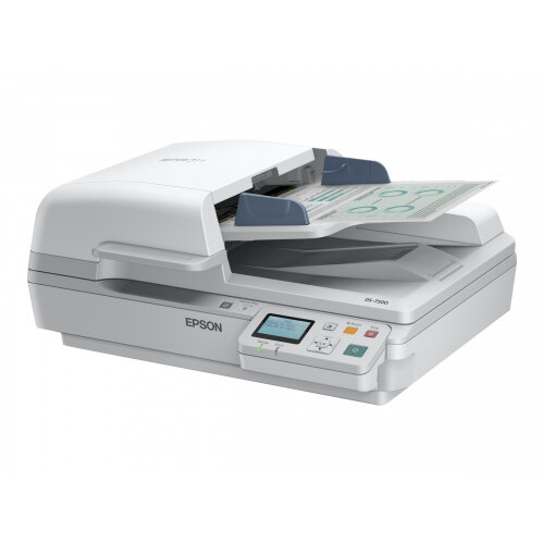 Epson WorkForce DS-6500N - Document scanner - Duplex - A4 - 1200 dpi x 1200 dpi - up to 25 ppm (mono) / up to 25 ppm (colour) - ADF (100 sheets) - up to 3000 scans per day - USB 2.0, Gigabit LAN