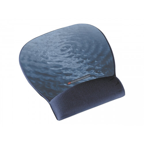 3M Precise Mousing Blue water - Mouse pad with wrist pillow - blue