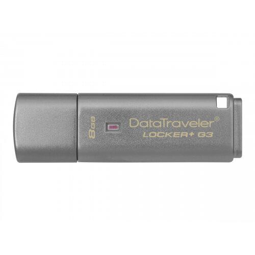 Kingston DataTraveler Locker+ G3 - USB flash drive - encrypted - 8 GB - USB 3.0