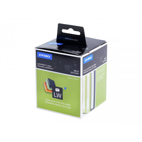 DYMO LabelWriter LAF Labels Large - Black on white - 59 x 190 mm 110 label(s) (1 roll(s) x 110) lever arch labels - for DYMO LabelWriter 300, 320, 330, 400, 450, 4XL