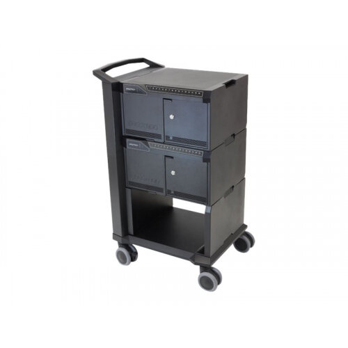 Ergotron Tablet Management Cart - Cart for 32 tablets - aluminium, steel - black - screen size: 10""