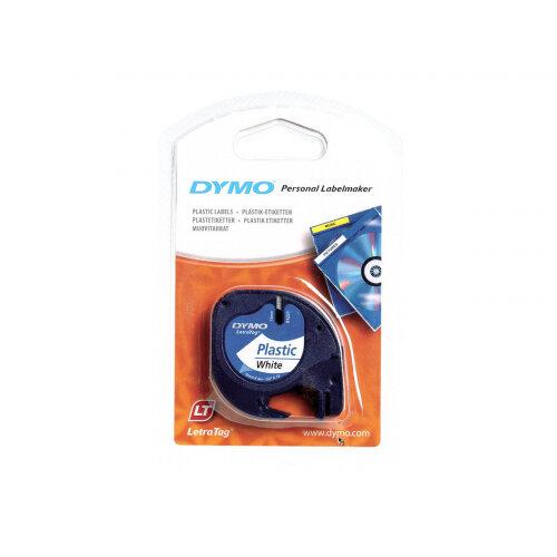 DYMO LetraTAG - Plastic - white - Roll (1.2 cm x 4 m) 1 roll(s) tape - for LetraTag LT-100H, LT-100T