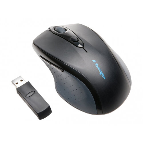 Kensington Pro Fit Full-Size - Mouse - right-handed - optical - wireless - 2.4 GHz - USB wireless receiver - black