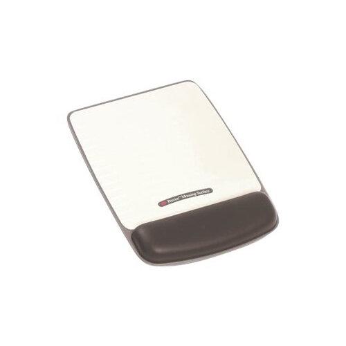 3M Adjustable Gel Wrist Rest for Mouse WR421LE - Mouse/trackball wrist rest - black, metallic grey