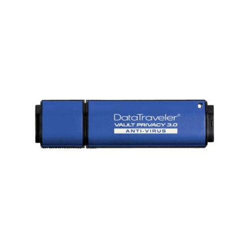 Kingston DataTraveler Vault Privacy 3.0 Anti-Virus - USB flash drive - encrypted - 8 GB - USB 3.0