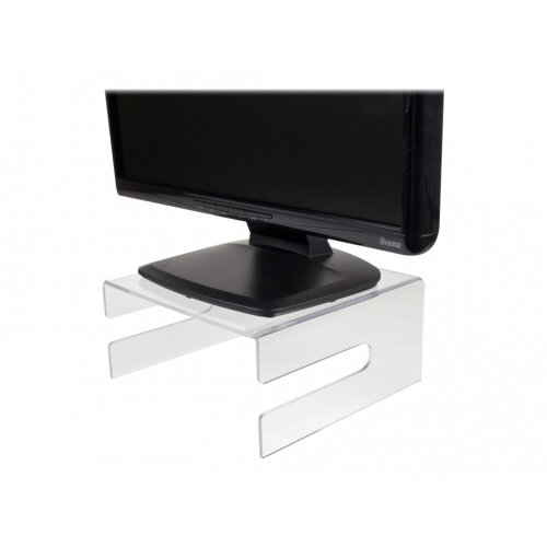 Newstar Transparent Monitor Stand (Clear Acrylic) - Monitor stand - transparent