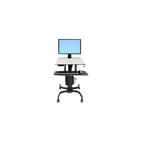 """Ergotron WorkFit-C Single HD Sit-Stand Workstation - Cart for LCD display / keyboard / mouse / CPU - grey, black - screen size: 30"""""""