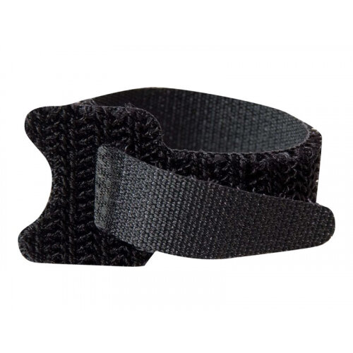 C2G Hook-and-Loop - Cable strap - 15 cm - black (pack of 12)