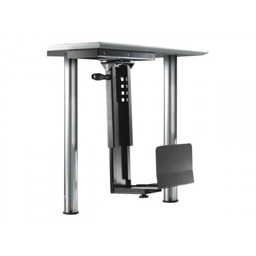 NewStar Slidable Under Desk PC Mount (Suitable PC Dimensions -  Height: 39-54 cm / Width: 13-23 cm) - Black - Mounting kit (CPU holder) - black - under-the-desk