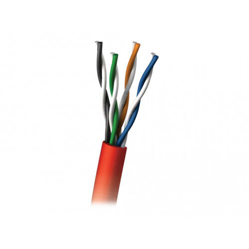 C2G - Bulk cable - 305 m - UTP - CAT 5e - plenum, solid - red